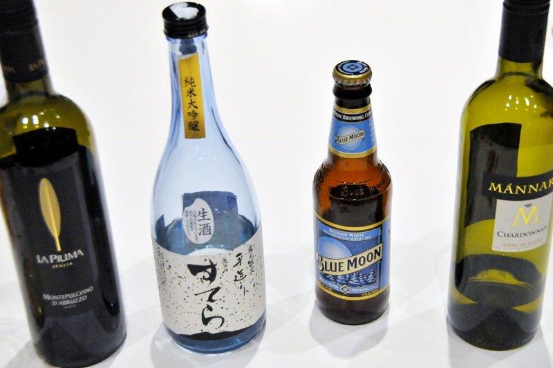 今回振舞われた星空や月にちなんだ日本酒やビールの一部