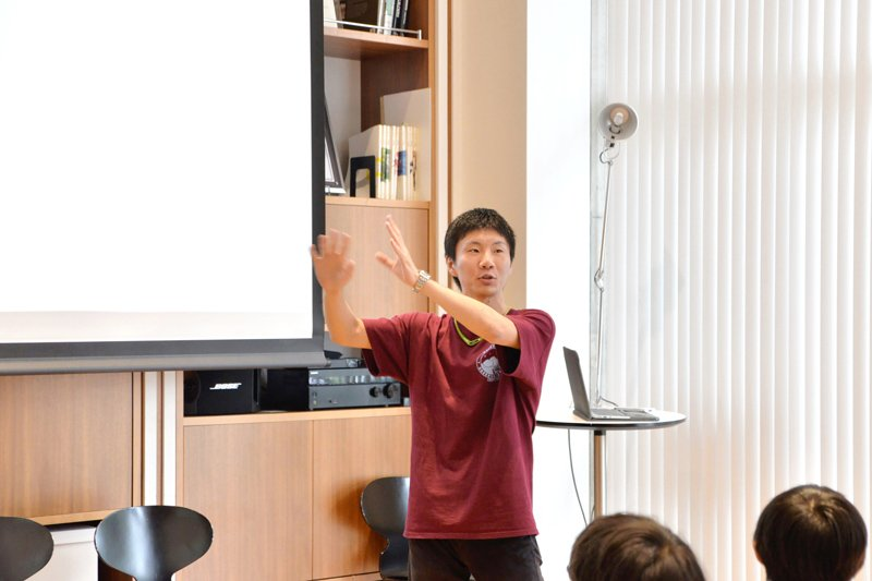 この日の「研究者に会いに行こう!」は、東京大学の大学院生による講座だった。