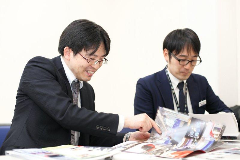 つくばエクスプレスの魅力を語る田代さん(左)と横田さん(右)