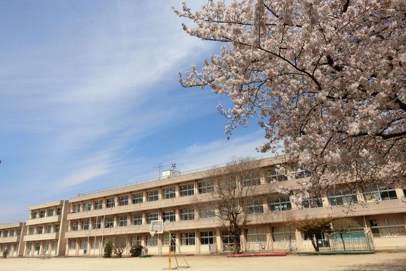 広い校庭と校舎